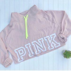 •VS PINK• crop cowl hooded sweatshirt